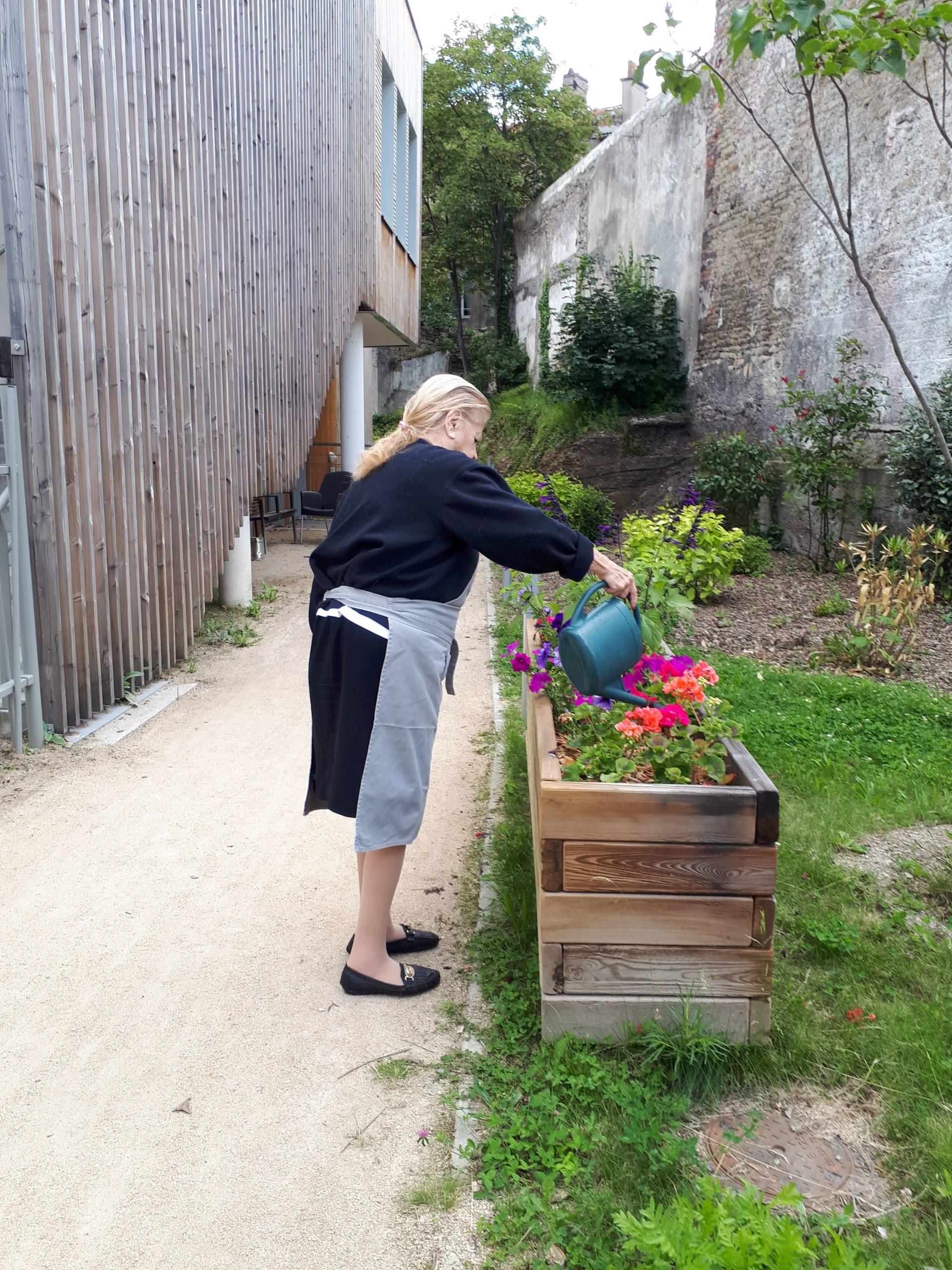 Arrosage au jardin